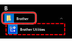 「Brother Utilities」クリック