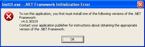net framework  できない